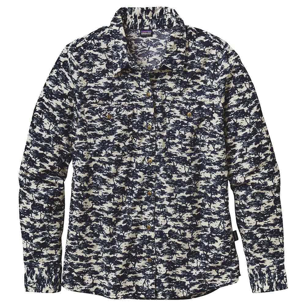 Patagonia Micro Cord L/s  Woodland Grove Navy Blue