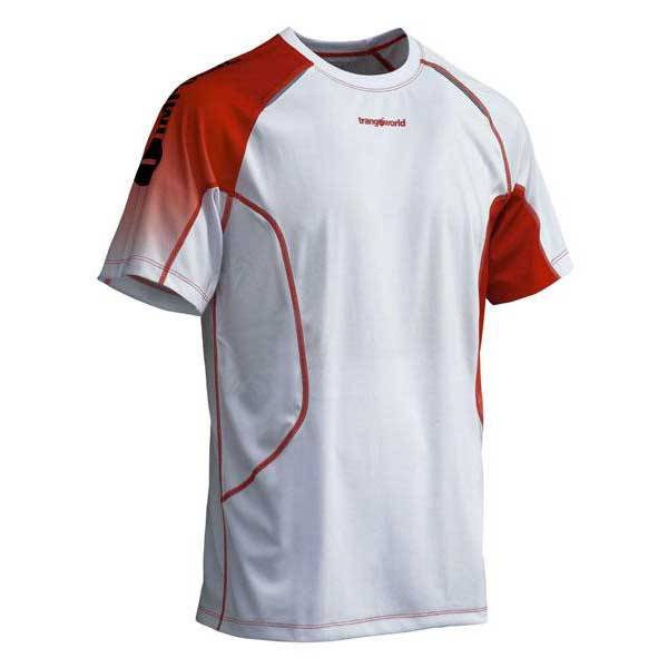 trangoworld Lyper Polyester Stretch Microfresh T Shirt  White / Red