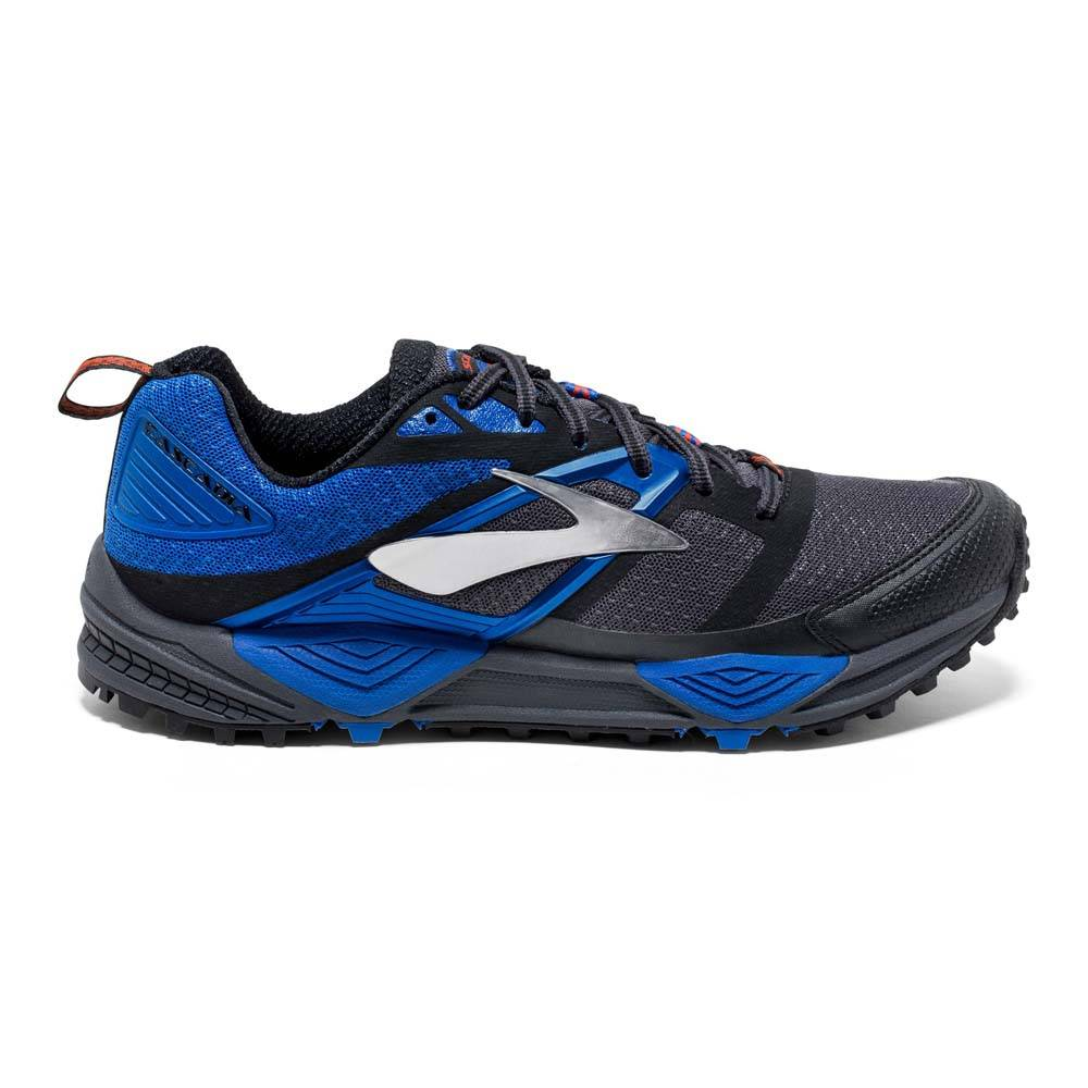 Brooks Cascadia 12  Anthracite / Electric Blue / Black