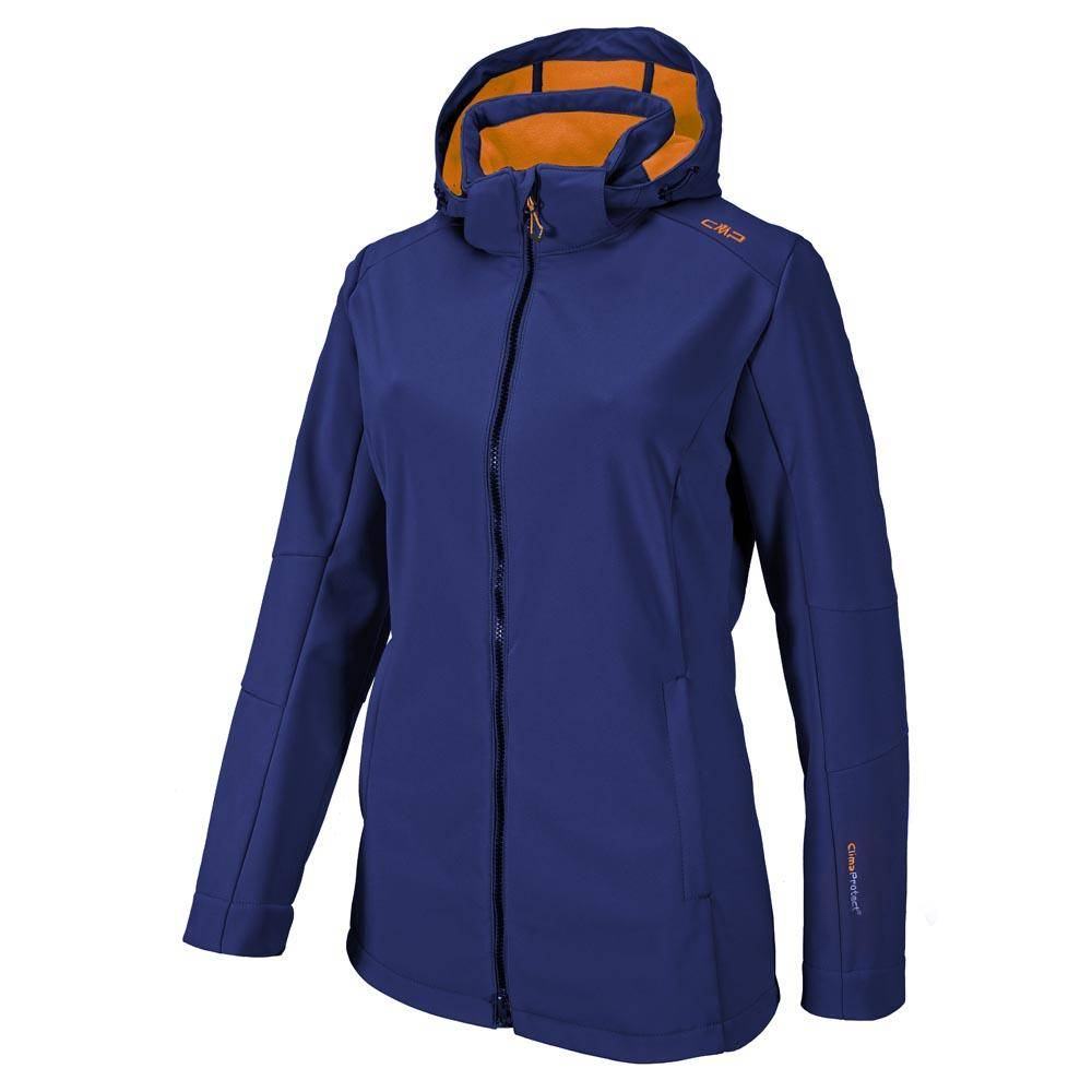 cmp Softshell Jacket Zip Hood  Nautico / Orange Juice