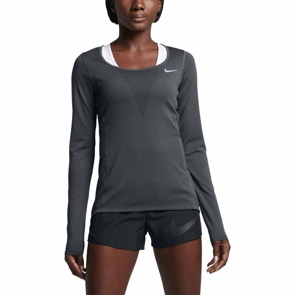 Nike Zonal Cooling Relay L/s Top  Black