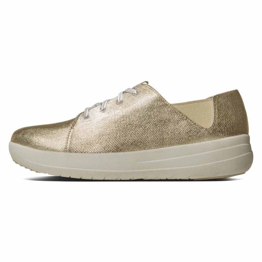 fitflop F Sporty Lace Up Sneaker  Gold