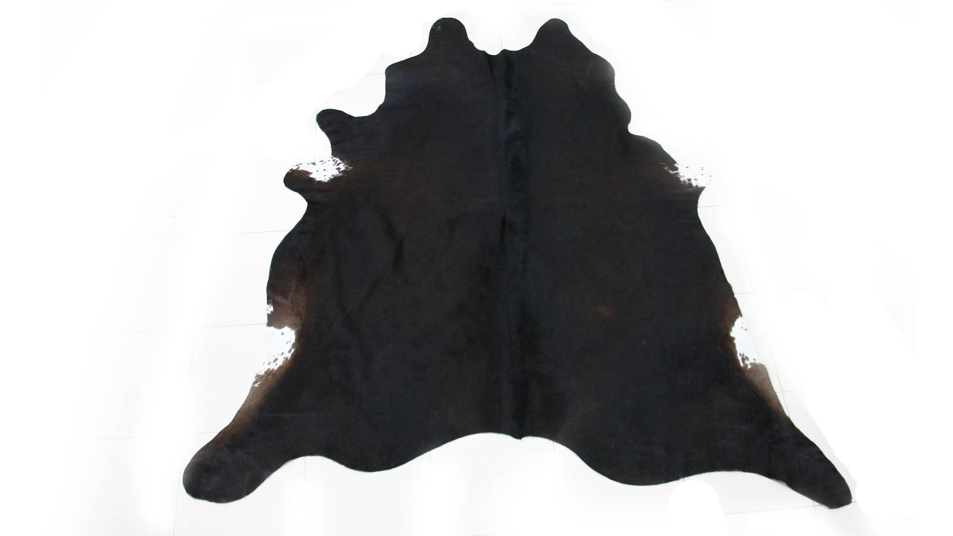 MobilierMoss Piel de vaca natural color chocolate oscuro - Laurine