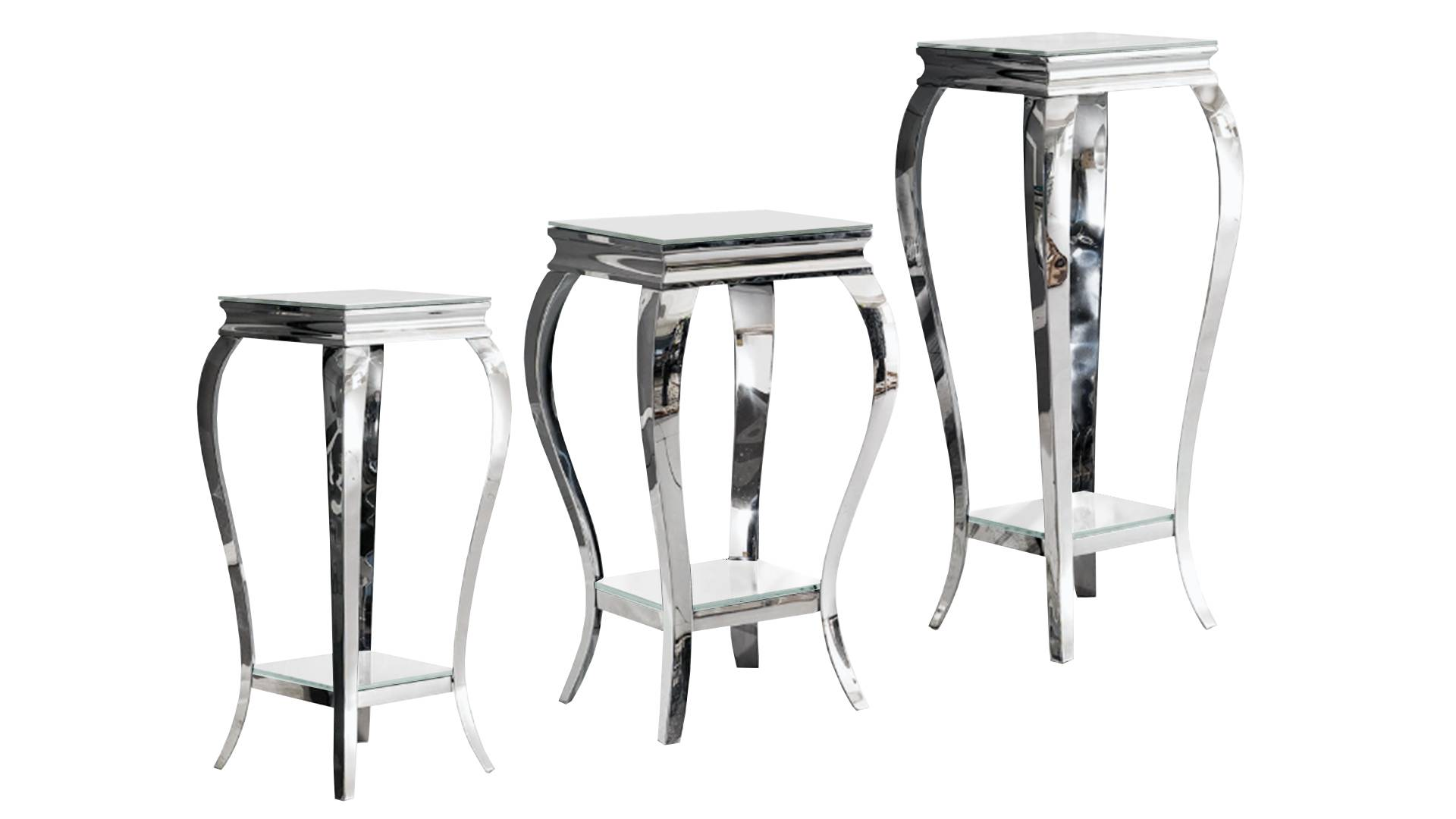 MobilierMoss Betty - Velador barroco con pies acero inoxidable
