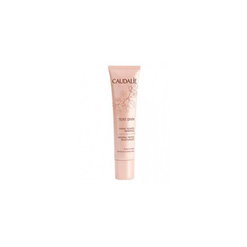 Caudalie Teint Divin Crema Color Mineral Pieles Oscuras 30ml