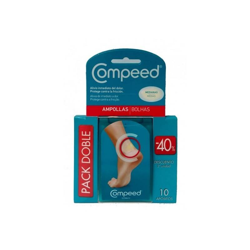 Compeed Ampollas Tamaño Mediano Pack Doble 10 Apósitos