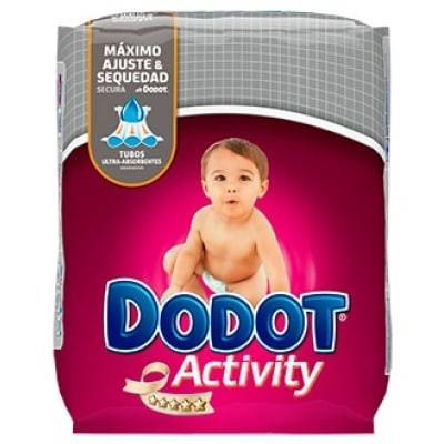 Dodot pañal activity t-4 8-14kg 62u