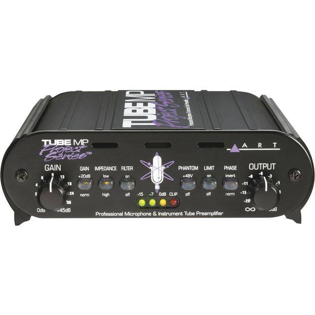 ART Applied Research & Technology Tube MP Project Series 1-Ch Tube Mic/LineAmp/DI