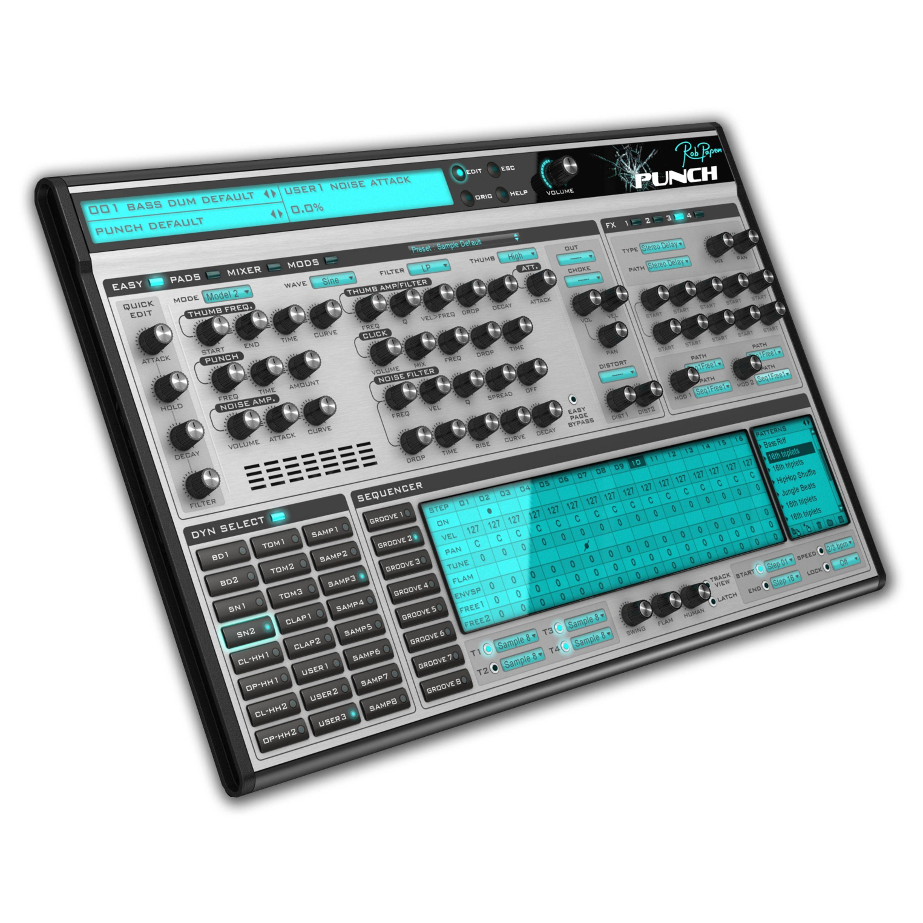 Rob Papen Punch Percussion + Drum Synth