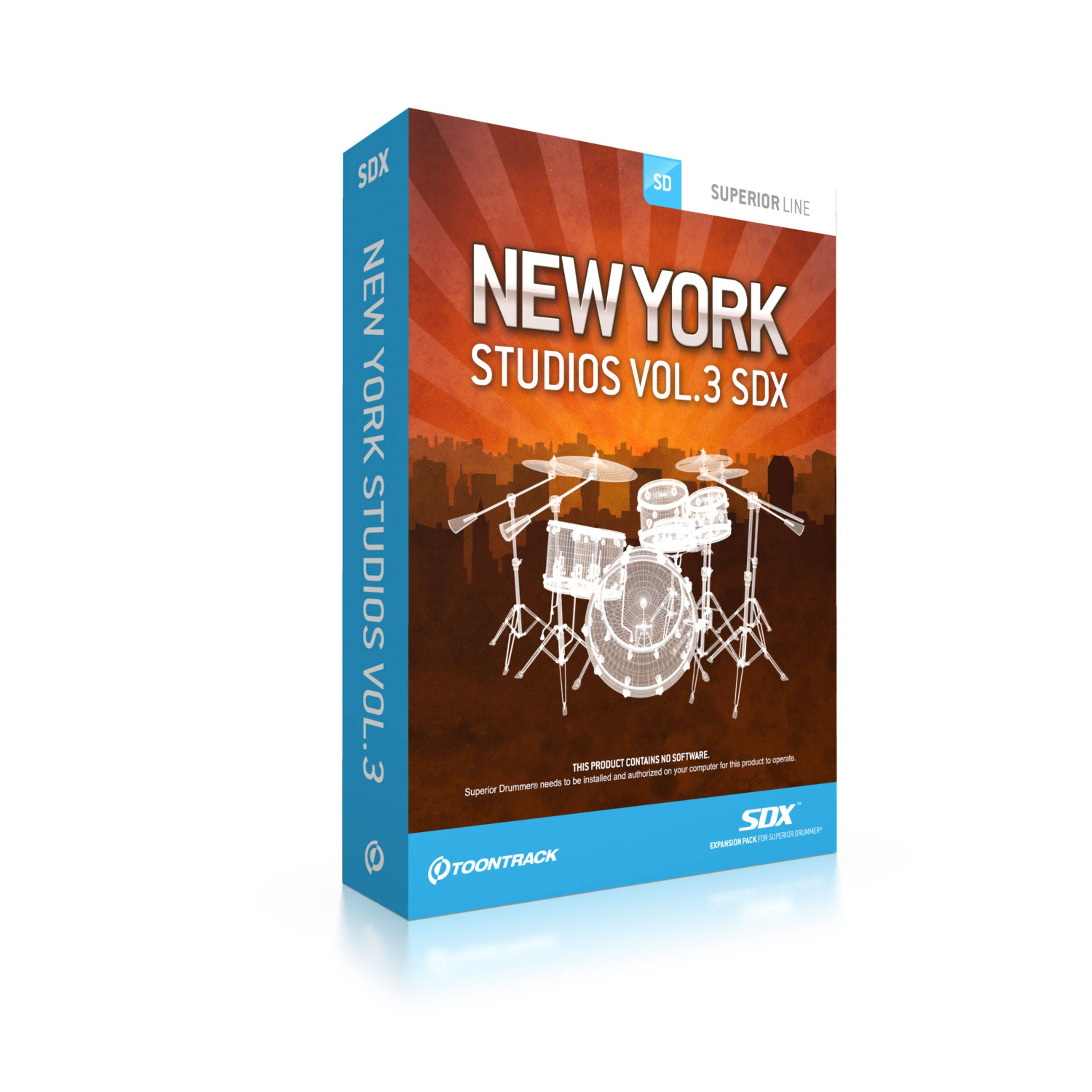 Toontrack SDX New York Studios Vol.3 Superior Drummer 2.0 Sounds