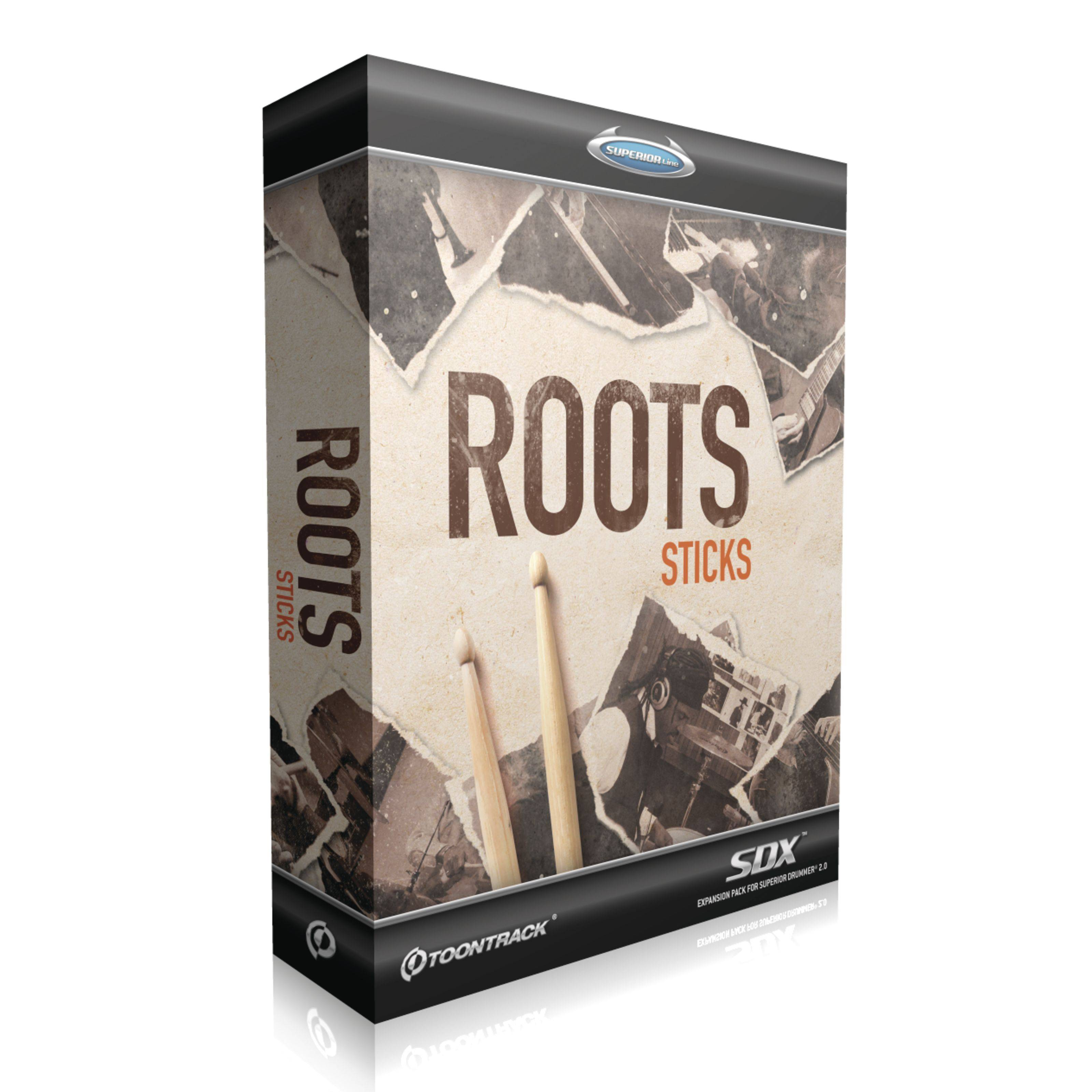 Toontrack SDX Roots: Sticks Superior Drummer 2 Library