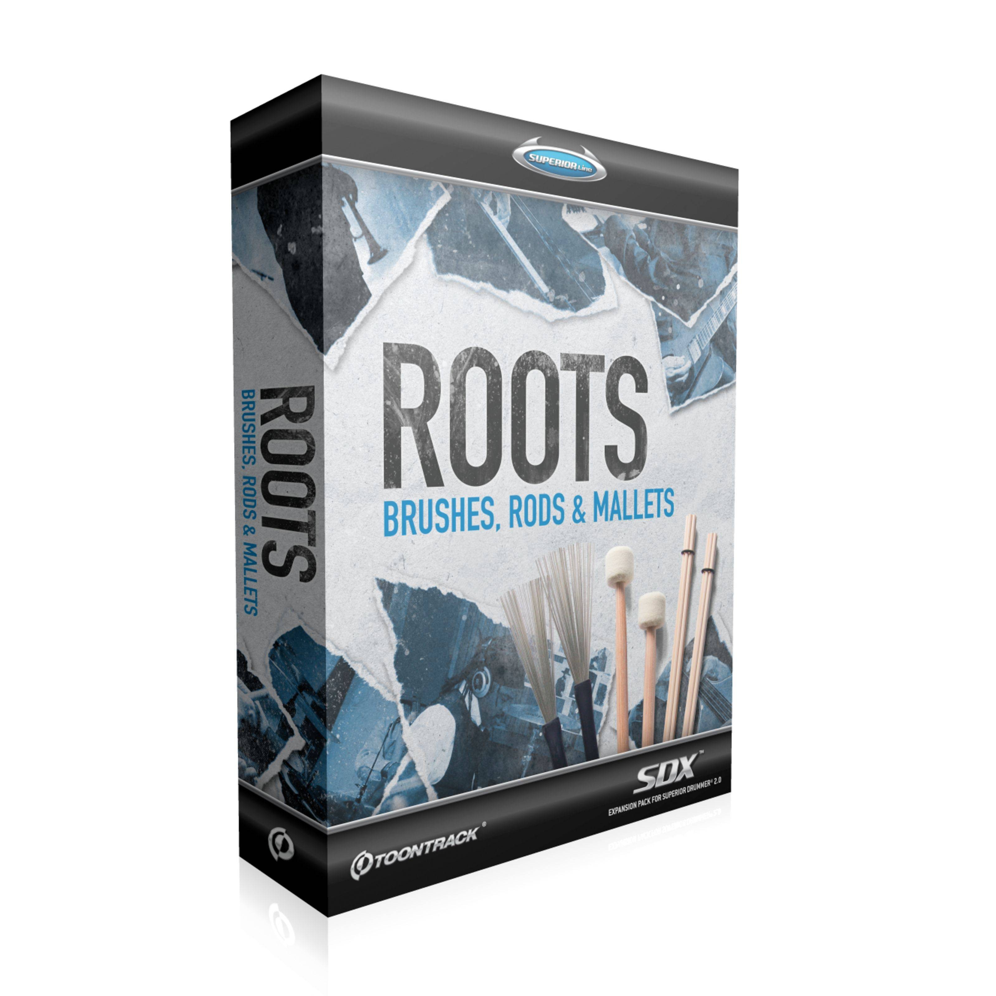Toontrack SDX Roots: Brushes, Rods & ... Librería Superior Drummer 2