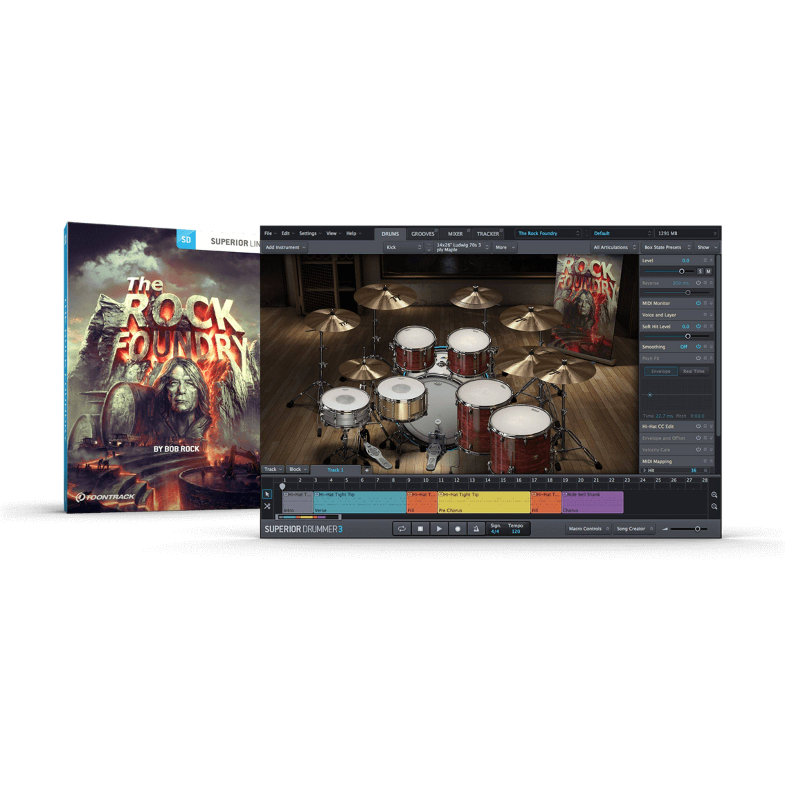 Toontrack The Rock Foundry SDX Boxed