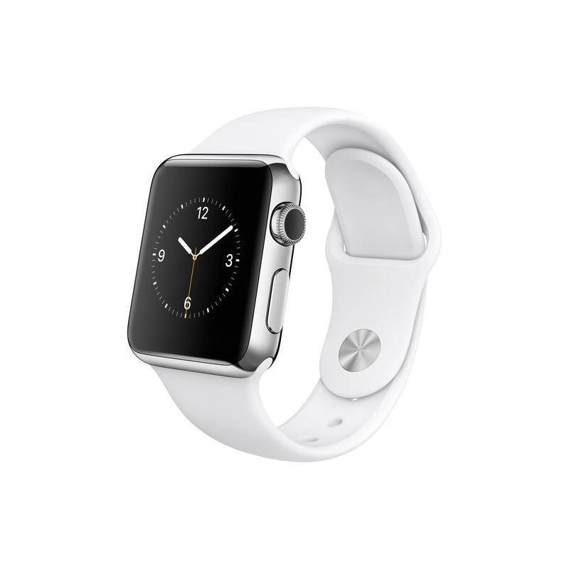 Apple Watch 38 mm (Serie 1) Acero Inoxidable Plata Pulsera Deportiva Blanca