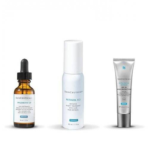 Skinceuticals Phloretin CF, 15 ml. y Retinol 0.3 Cuidado Noche Antimanchas + Ultra Facial Defense SPF 50 ml. de REGALO! -