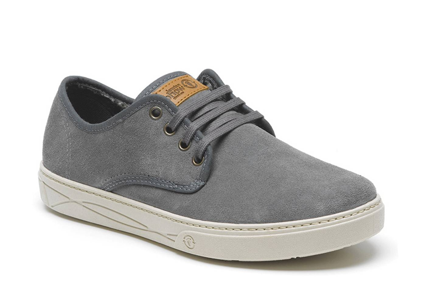 Natural World Zapatilla de Vestir Suede 824 Gris