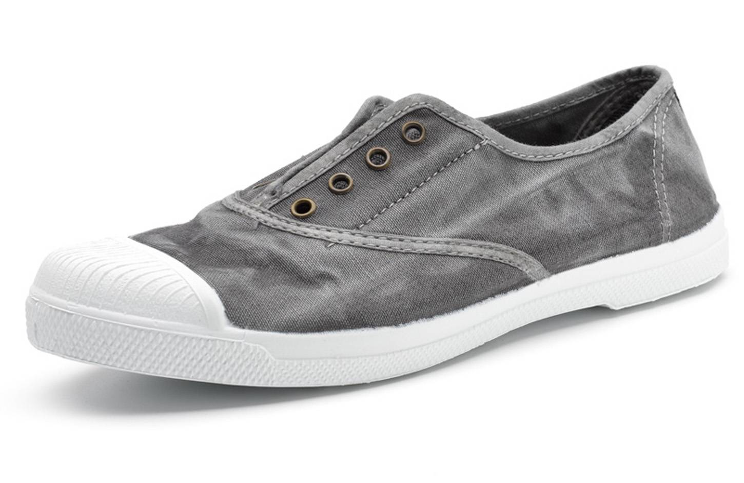 Natural World Zapatilla Ingles Efecto Desgastado 102E Gris