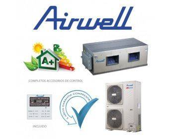 Airwell Split Conductos 22,4/25,0 kW - INVERTER - Bomba Calor - 380V