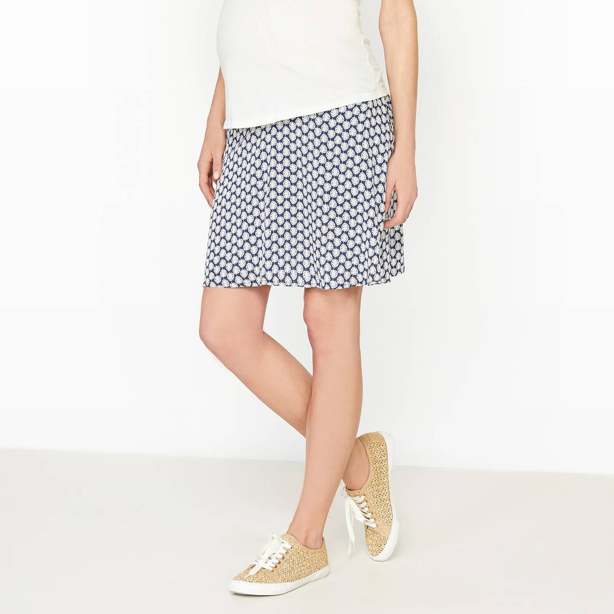 La Redoute Collections Falda de embarazo estampada, viscosa azul
