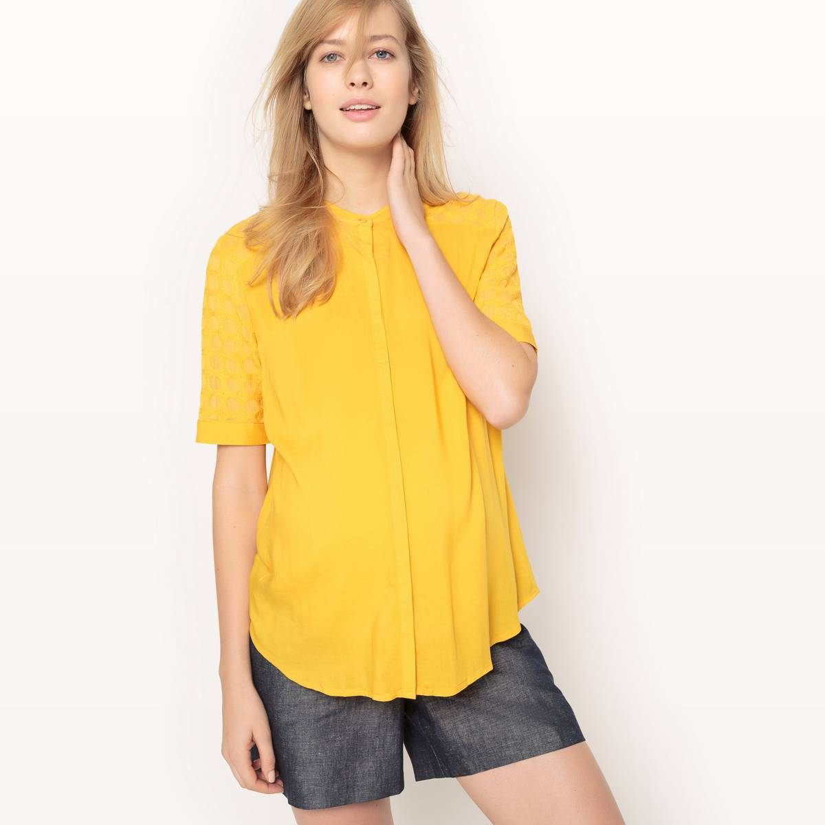 La Redoute Collections Camisa recta de embarazo amarillo