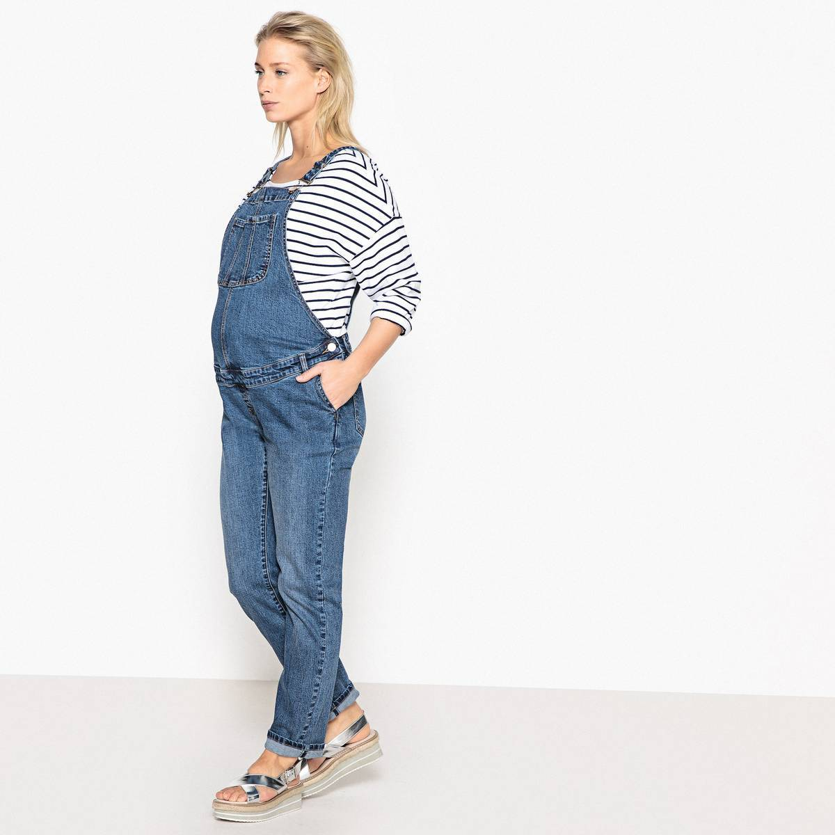 La Redoute Collections Peto de embarazo de denim azul