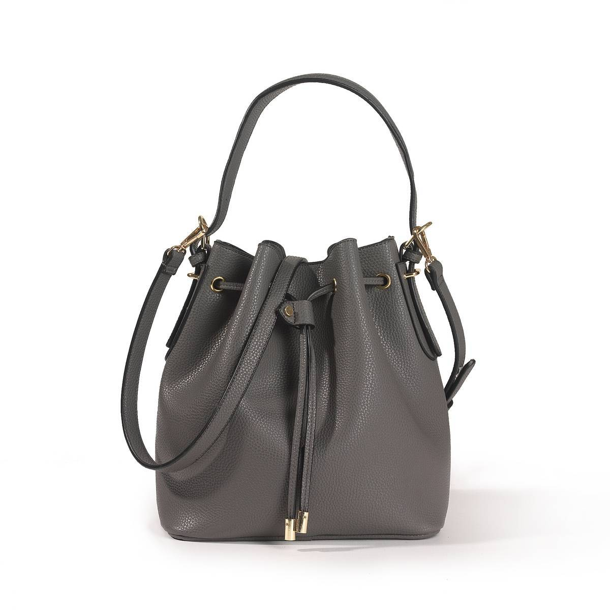 La Redoute Collections Bolso tipo cubo gris