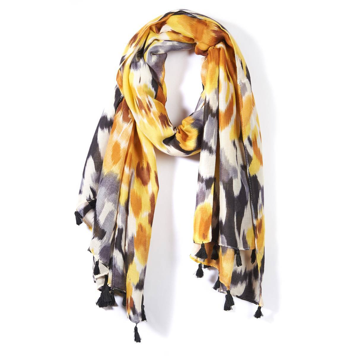 La Redoute Collections Fular tie and dye amarillo