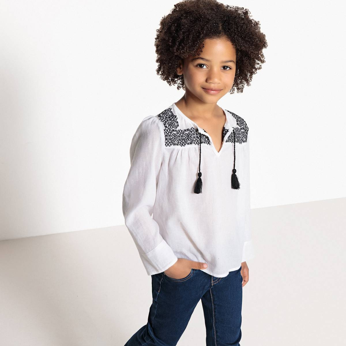 La Redoute Collections Blusa de manga larga 3-12 años blanco