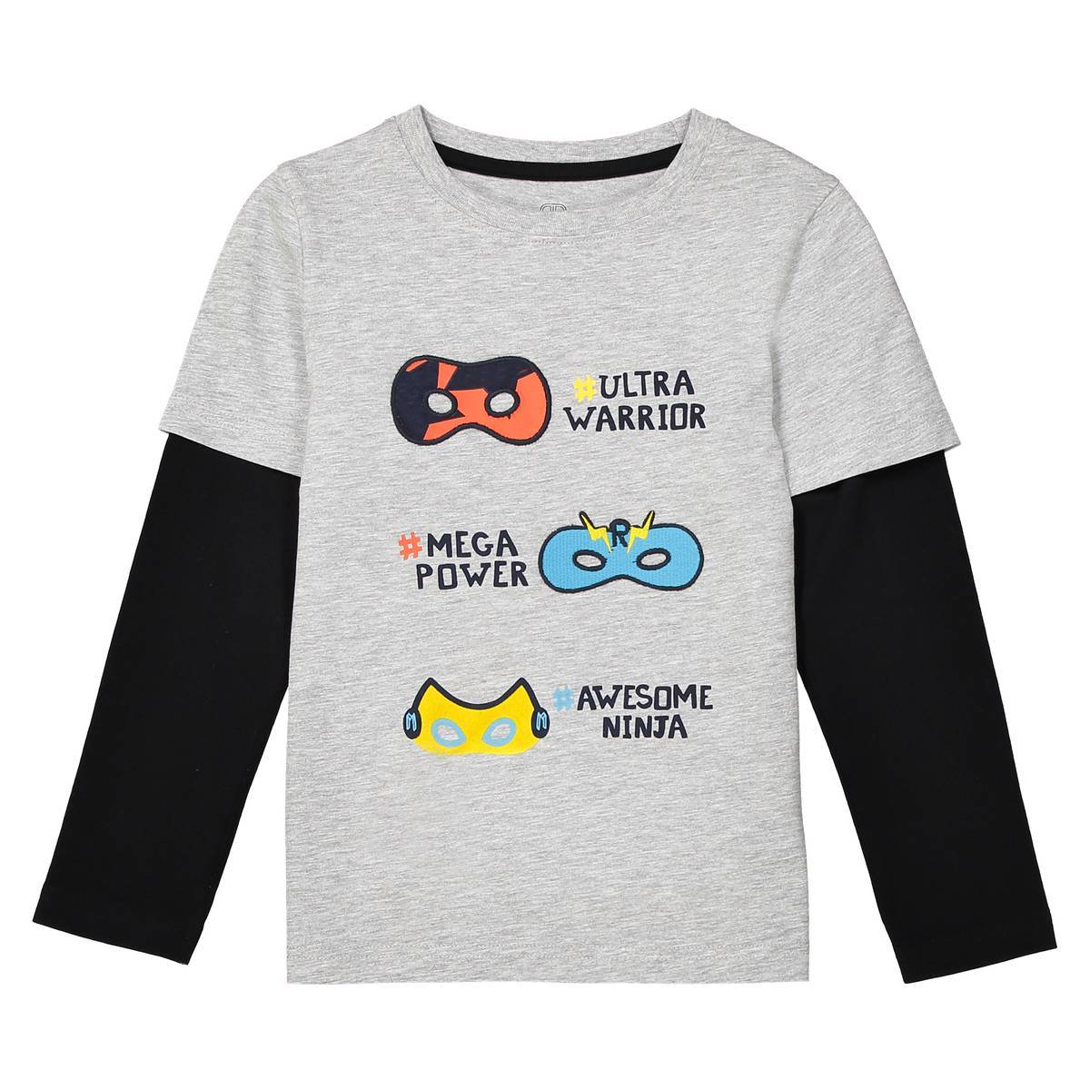 La Redoute Collections Camiseta 2 en 1, 3-12 años gris