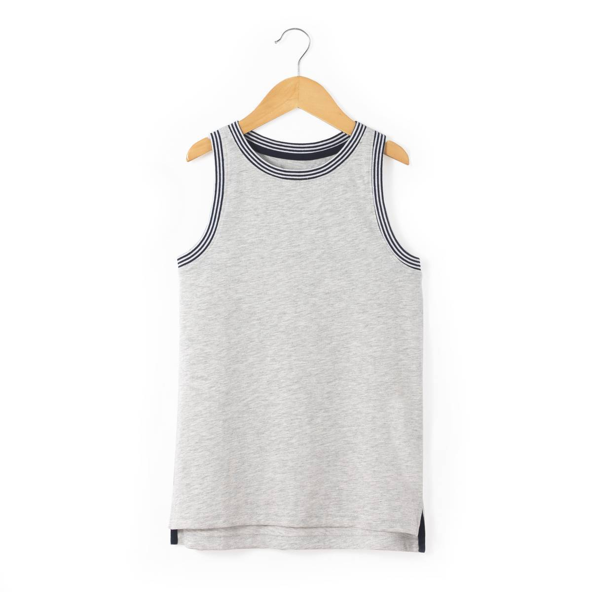 La Redoute Collections Camiseta lisa sin mangas 10-16 años gris