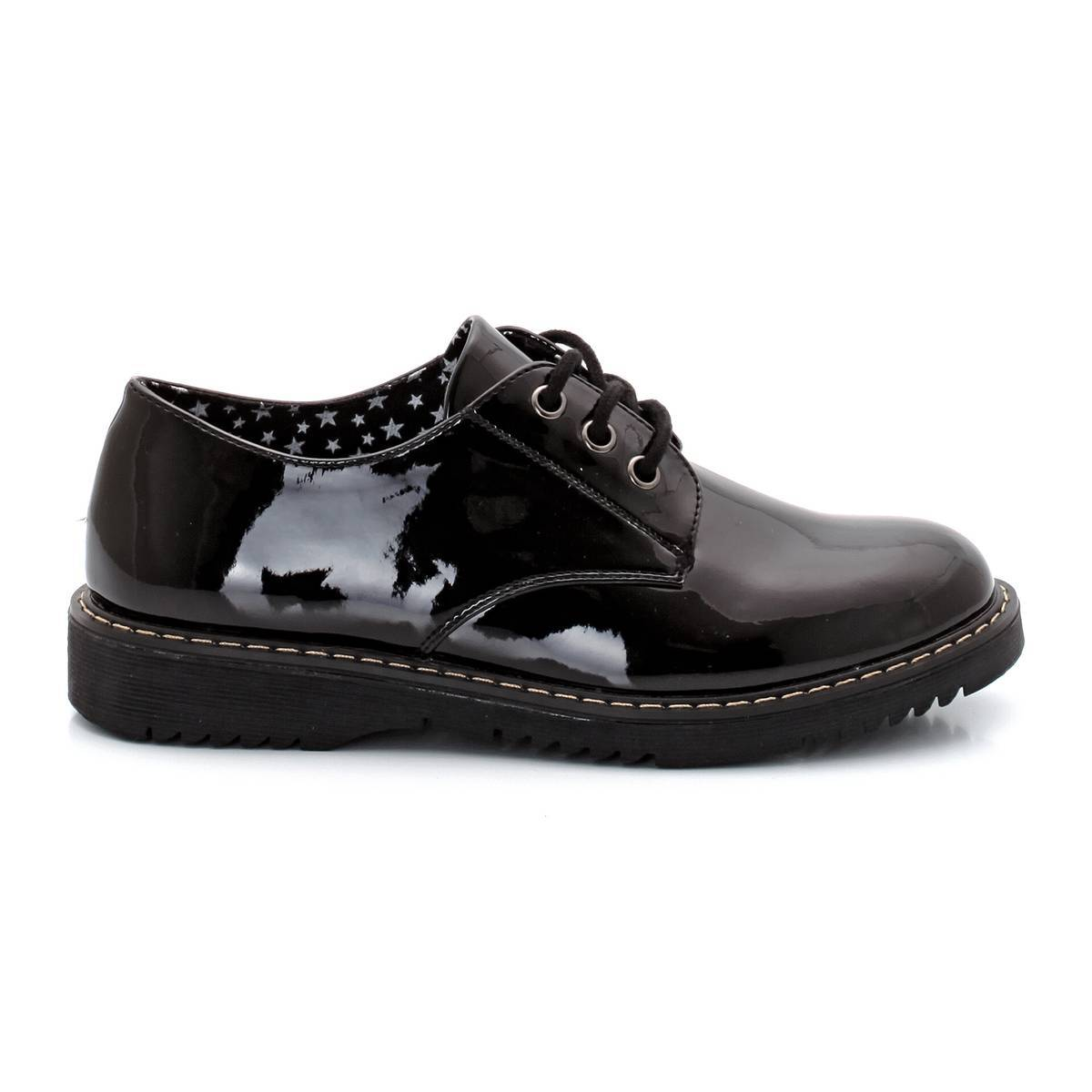 La Redoute Collections Derbies de charol con cordones negro