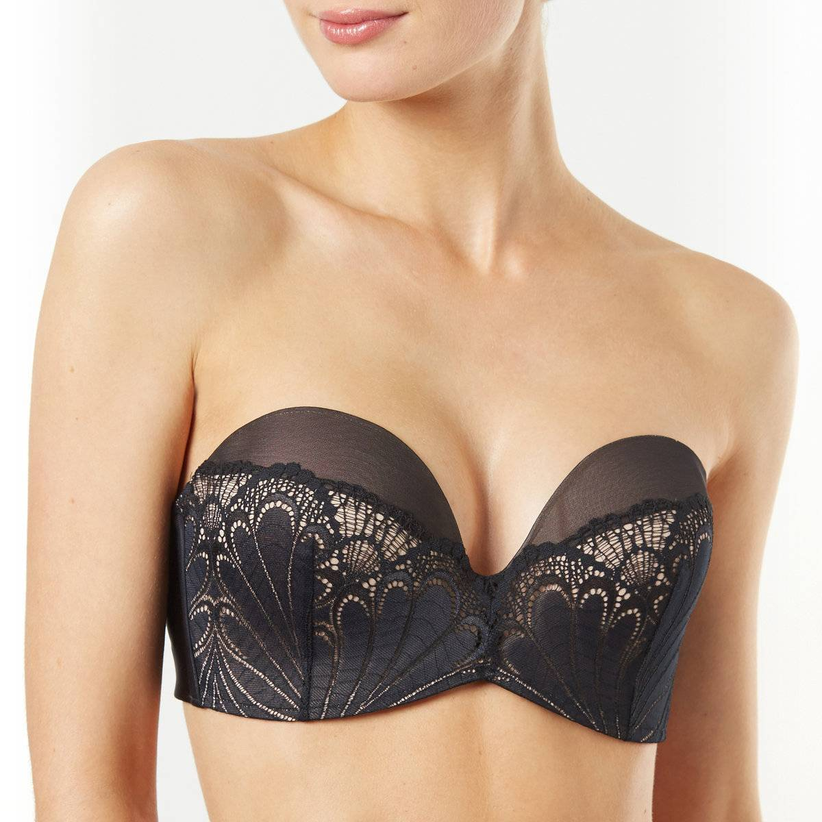 WONDERBRA Sujetador tipo banda efecto push-up Ultimate Strapless negro
