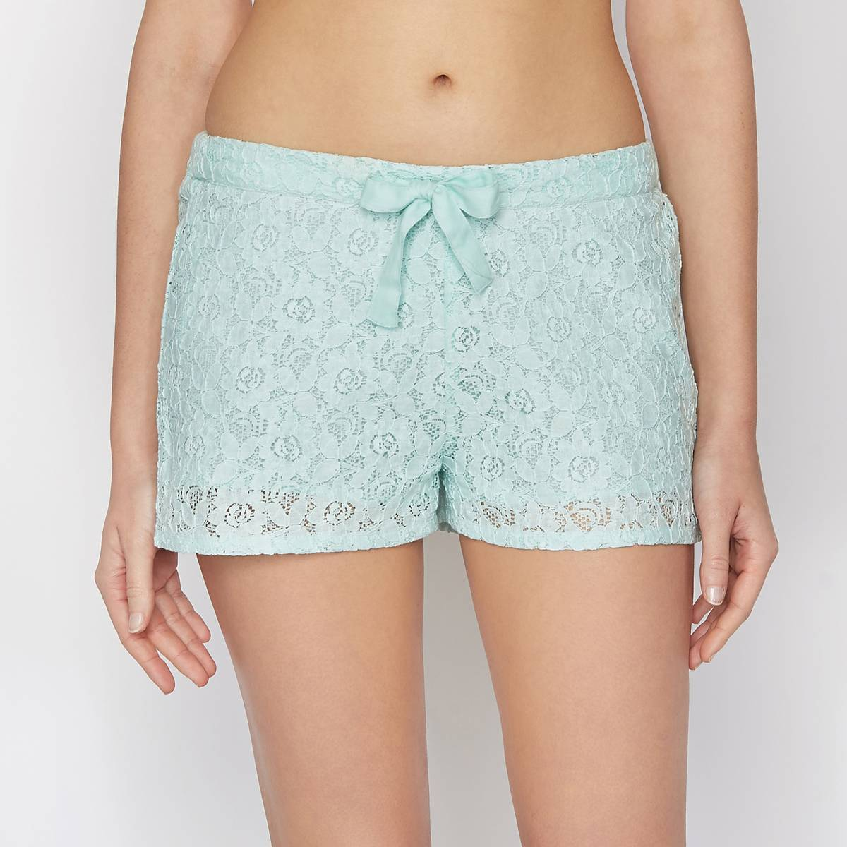 La Redoute Collections Short de encaje verde
