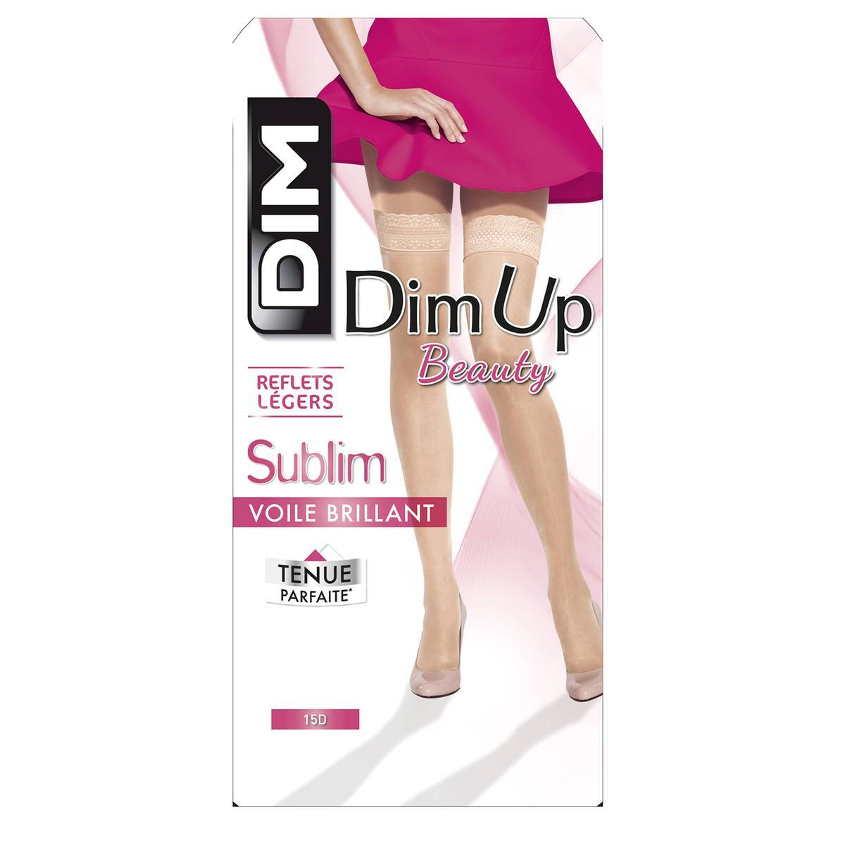 DIM Medias autoadherentes Dim up Beauty Sublim 15 deniers negro