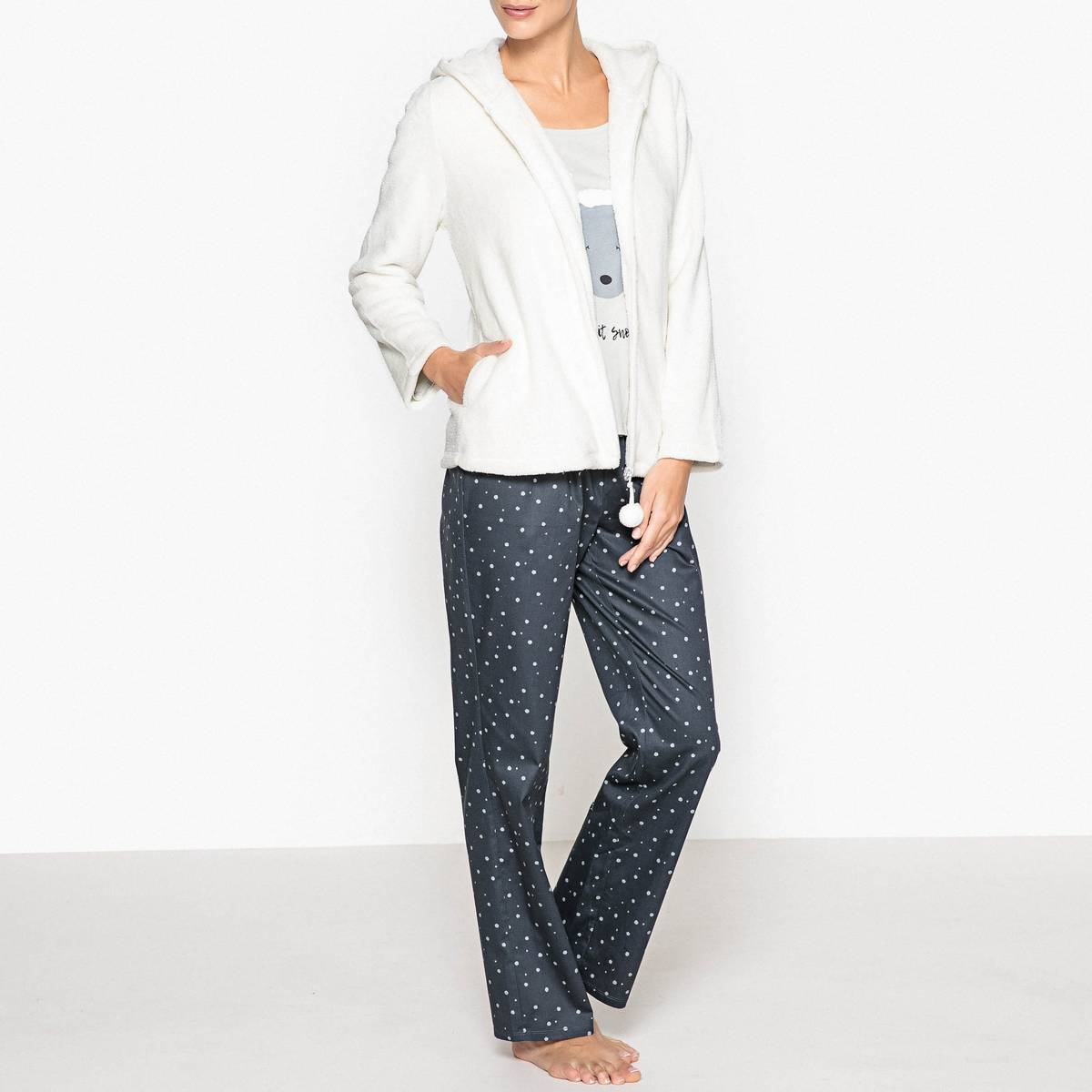 La Redoute Collections Pijama de 3 prendas blanco