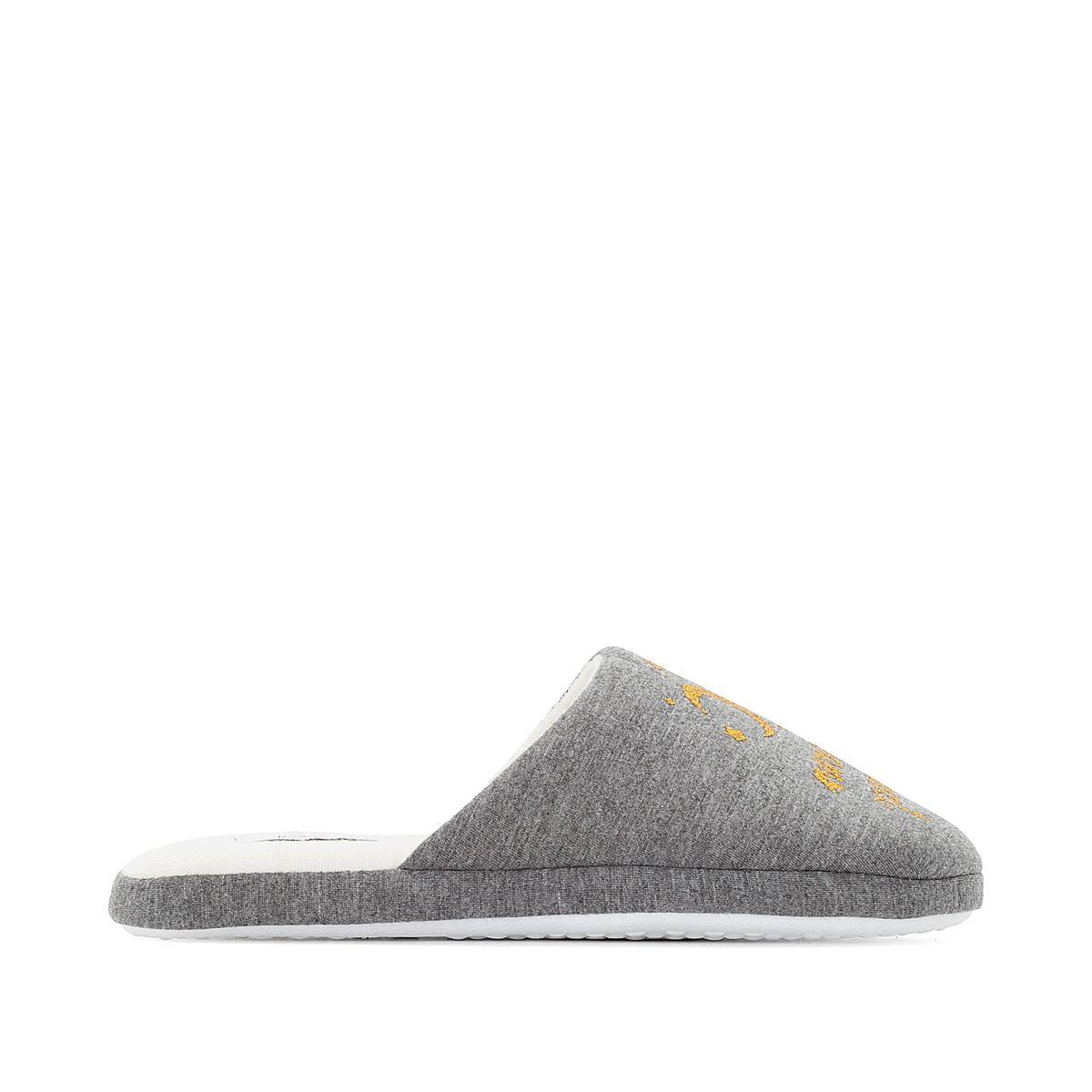 La Redoute Collections Zapatillas de casa con mensaje brillante gris