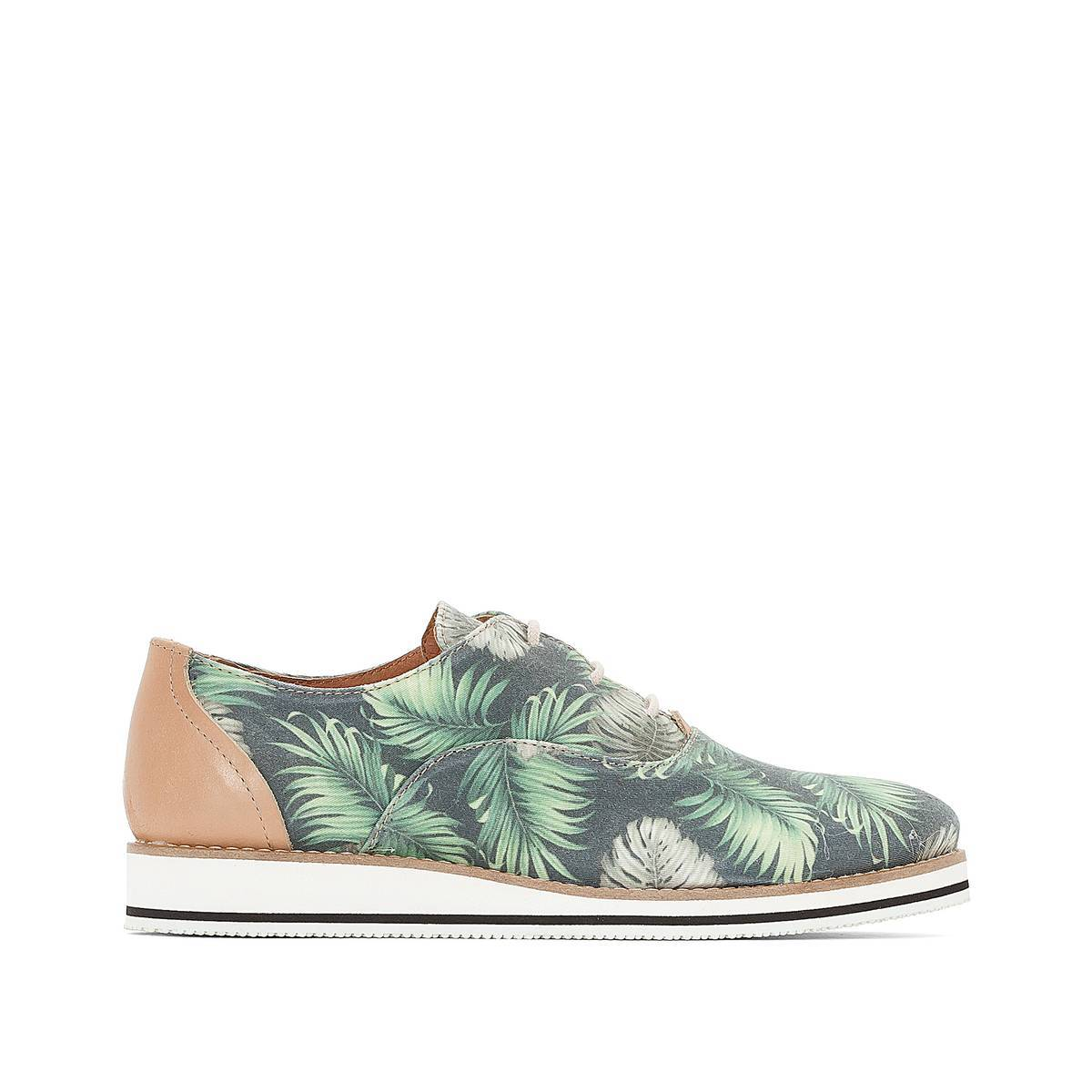 La Redoute Collections Zapatos derbies con estampado tropical azul
