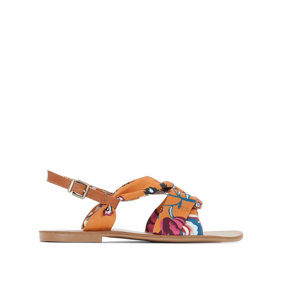 La Redoute Collections Sandalias con lacitos estampados otros