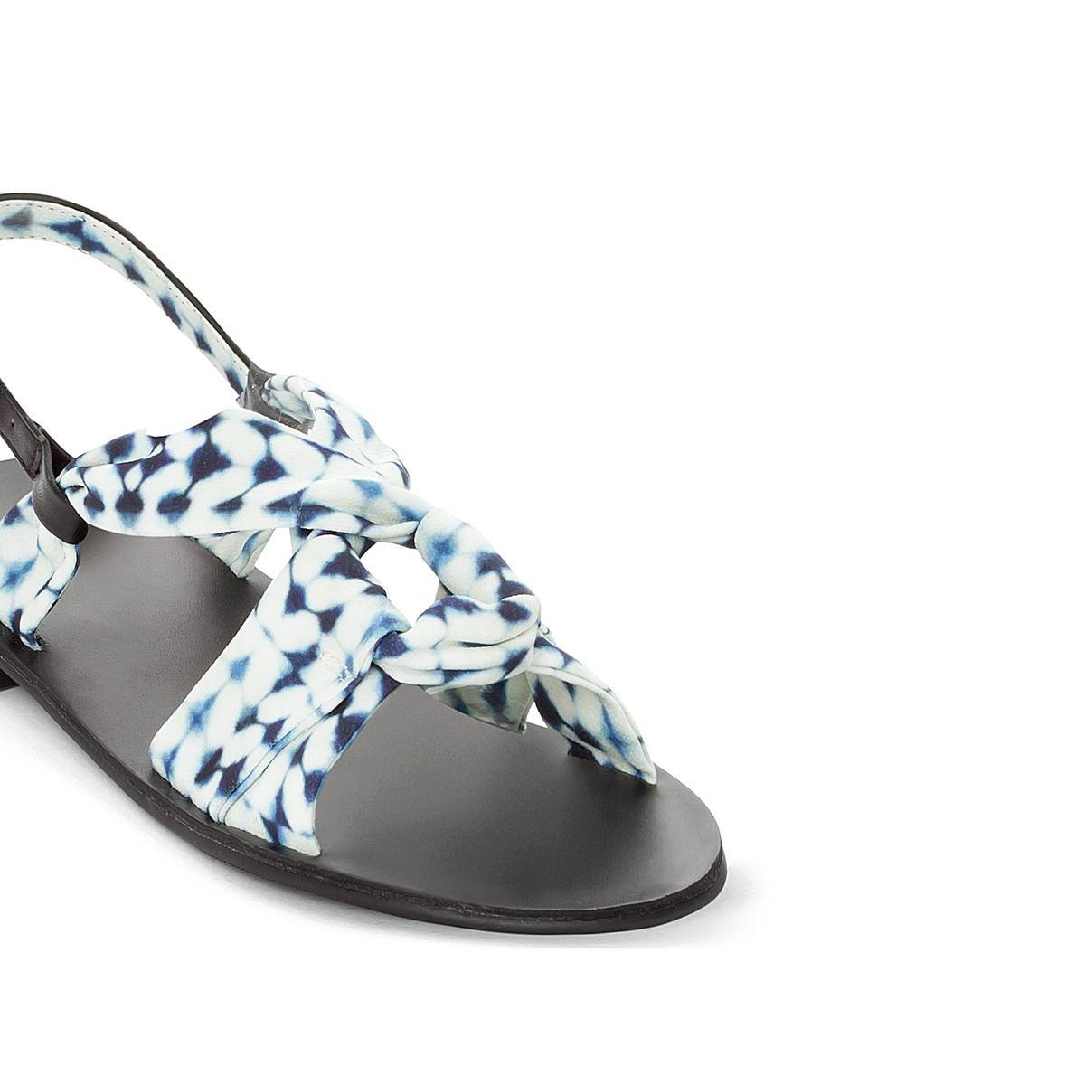 La Redoute Collections Sandalias con lacitos estampados azul