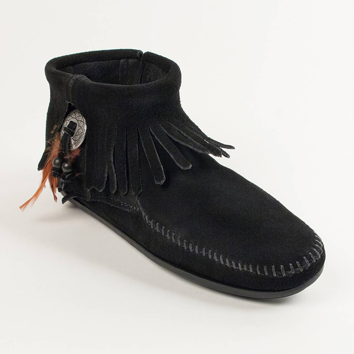 MINNETONKA Botines CONCHO FEATHER negro