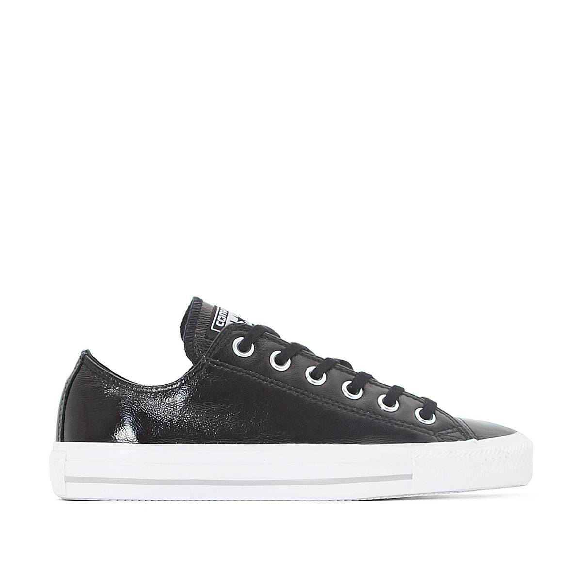 Converse Zapatillas CTAS Crinkled Patent Leather Ox negro