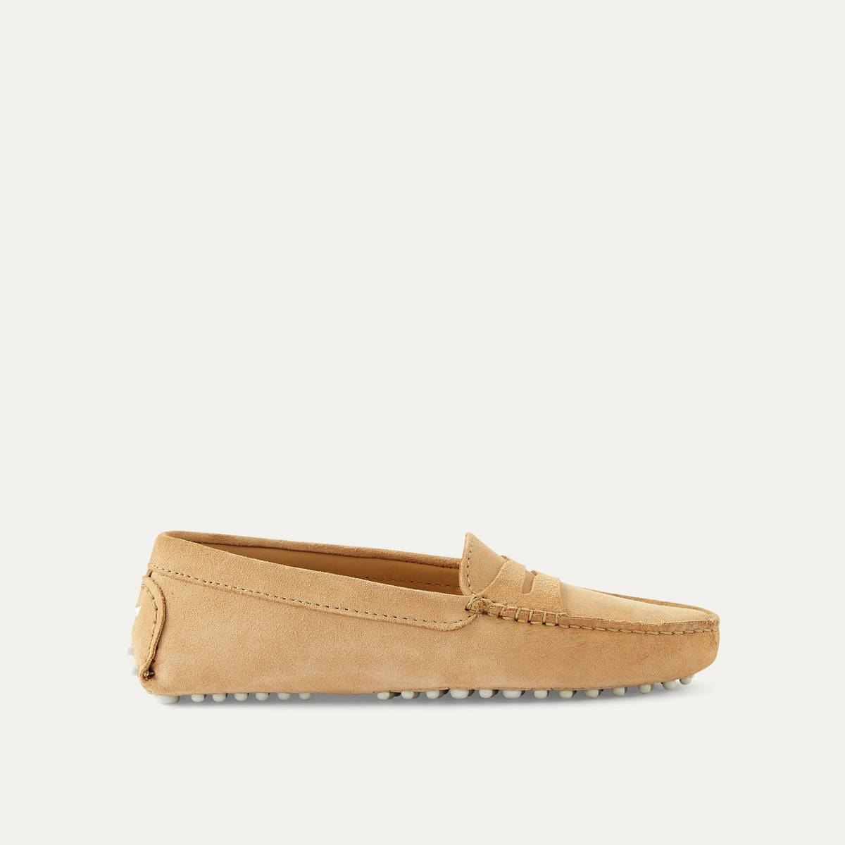 BOBBIES Mocasines de piel beige