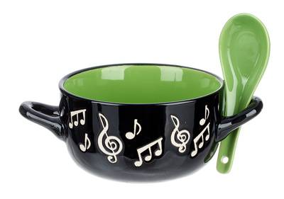 Music Sales Music Note Bowl Spoon Green