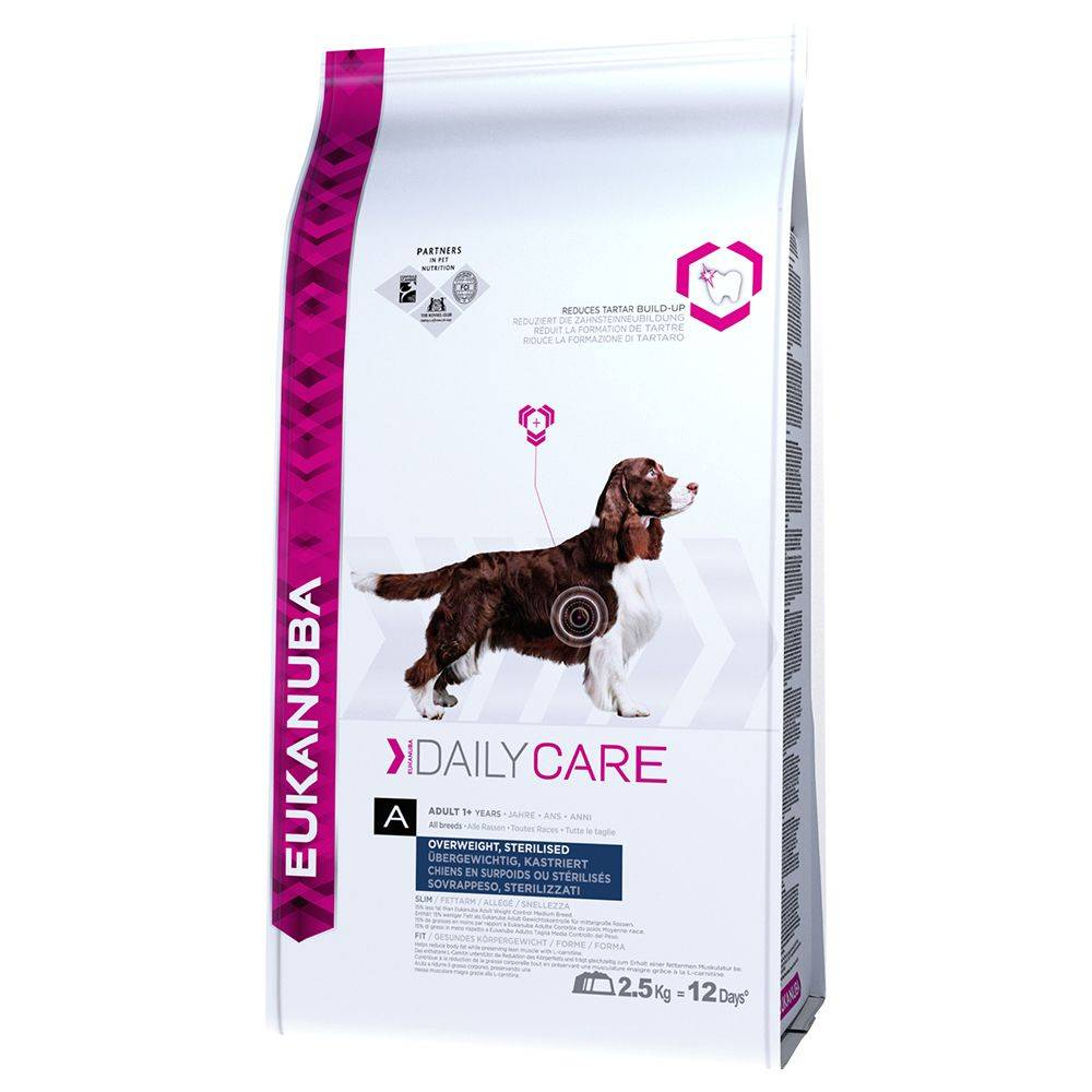 Eukanuba Daily Care Overweight / Sterilized - 2 x 12,5 kg - Pack Ahorro