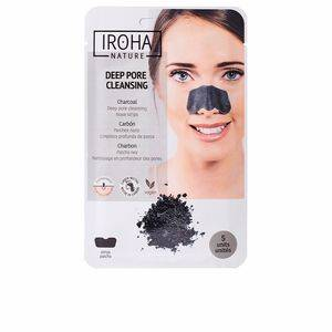 Iroha DETOX CHARCOAL BLACK nose strips 5 uds