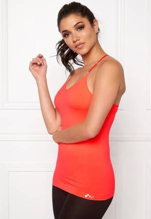 ONLY PLAY Jewel Seamless Top Bright Coral L