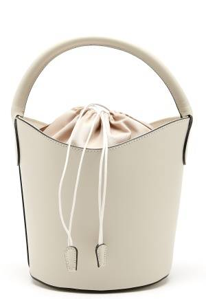 Mixed from Italy Leather Bucket Bag Beige One size