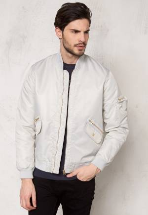 D.Brand Golden Zip Bomber Jacket Grey S