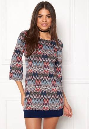 Happy Holly Belicia dress Patterned / Blue 44/46S