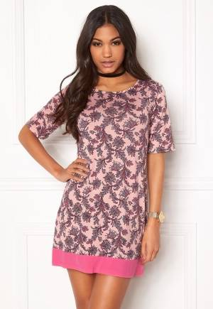 Happy Holly Belicia dress Pink / Patterned 40/42L